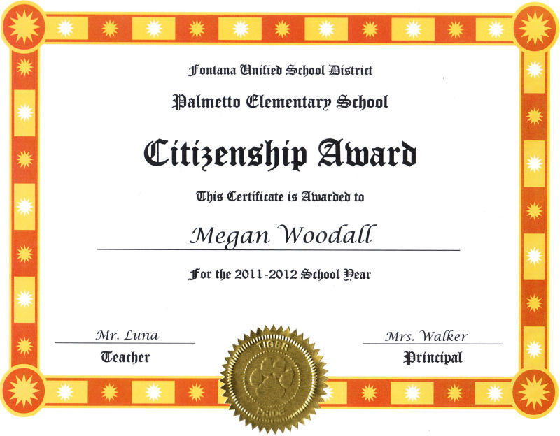 Megan Woodall Awards